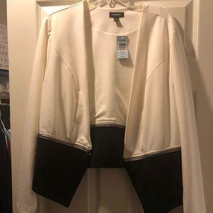 White and black torrid jacket